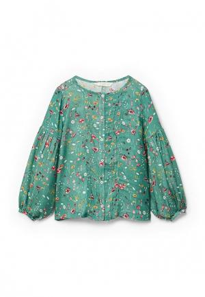 Блуза Mango Kids. Цвет: зеленый