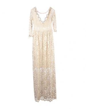 Длинное платье SONIA FORTUNA. Цвет: бежевый