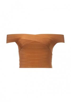 Топ Manosque. Цвет: коричневый