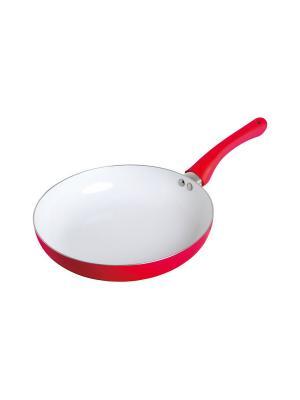 Сковорода с керамическим покрытием (газ/электро), D 24 см FRANK MOLLER. Цвет: красный