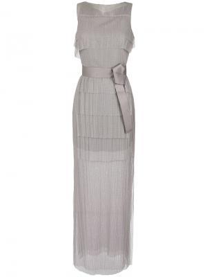 Maxi gown Gloria Coelho. Цвет: серый