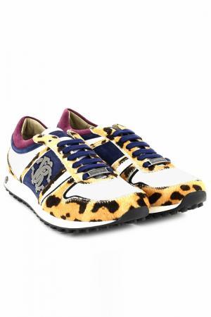 Кроссовки Roberto Cavalli. Цвет: леопардовый