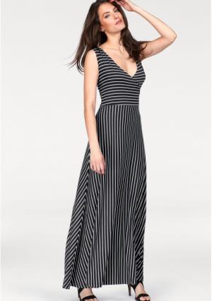 Платье макси VIVANCE. Цвет: черный/белый