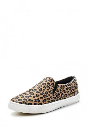 Слипоны WS Shoes. Цвет: коричневый