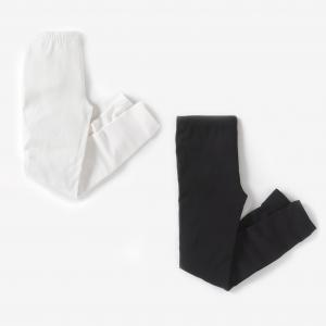 Леггинсы La Redoute Collections. Цвет: черный + серый меланж