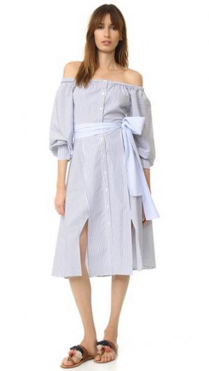 Платье Leandra Elle Sasson. Цвет: темно-синяя полоска