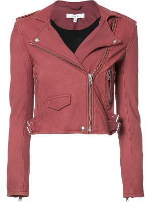 Укороченная байкерская куртка Iro. Цвет: красный