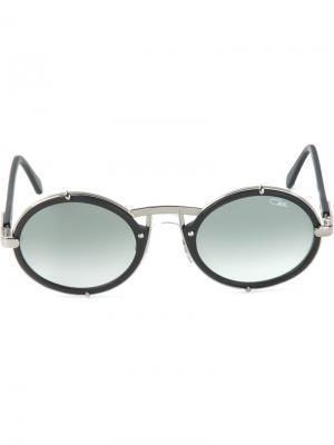 Солнцезащитные очки в круглой оправе Cazal. Цвет: чёрный
