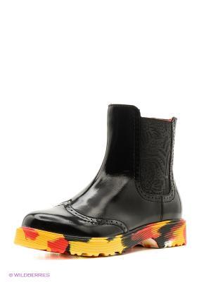 Ботинки San Marko. Цвет: черный, красный, желтый