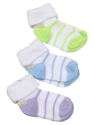 Носки-пинетки M-BABY. Цвет: фиолетовый, голубой, салатовый