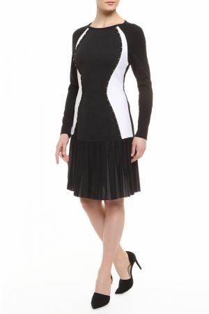 Платье CLASS ROBERTO CAVALLI. Цвет: черно-белый