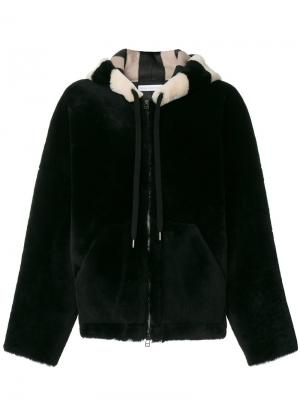 Пальто с меховой отделкой Inès & Maréchal. Цвет: чёрный