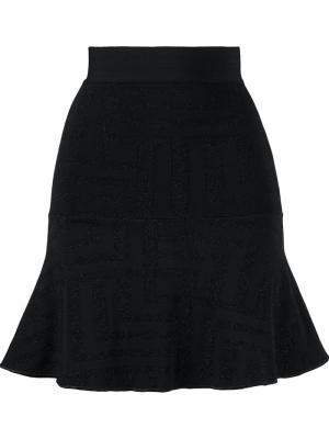 Вязаная юбка Cecilia Prado. Цвет: чёрный