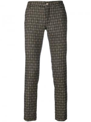 Твидовые брюки-чинос Entre Amis. Цвет: чёрный