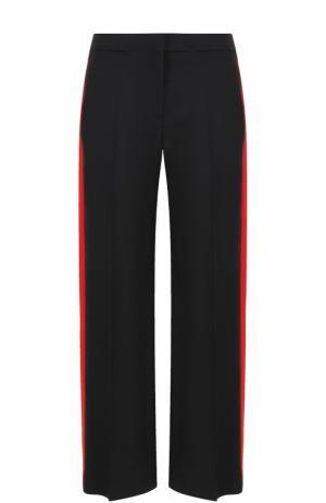Шерстяные брюки с контрастными лампасами Alexander McQueen. Цвет: черный