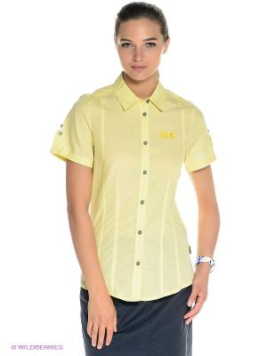 Рубашка BEYOND SHIRT W Jack Wolfskin. Цвет: желтый