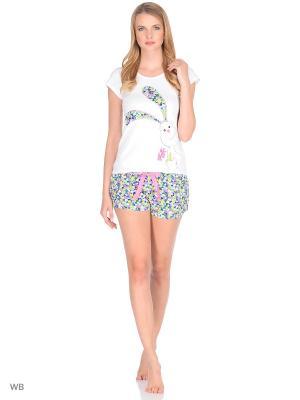Пижама Infinity Lingerie. Цвет: белый, зеленый, розовый