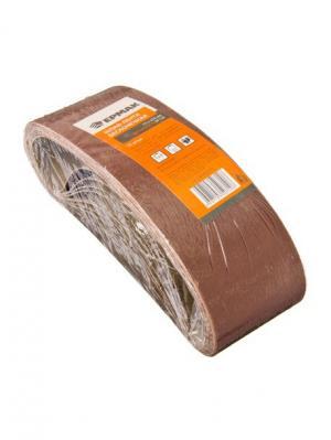 Шлиф-лента бесконечная 75x533мм Р120, 10шт Ермак. Цвет: серый