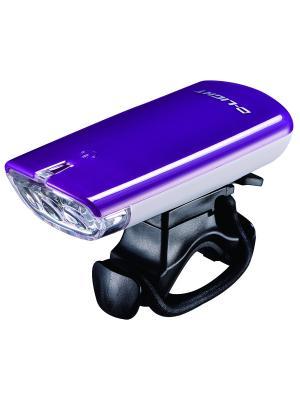 Фара с тремя белыми светодиодами D-light. Цвет: фиолетовый