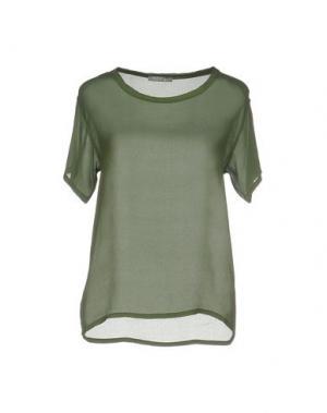 Блузка PLEASE. Цвет: зеленый-милитари