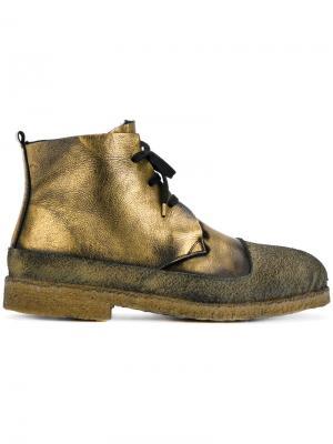 Metallic lace-up boots Rocco P.. Цвет: металлический