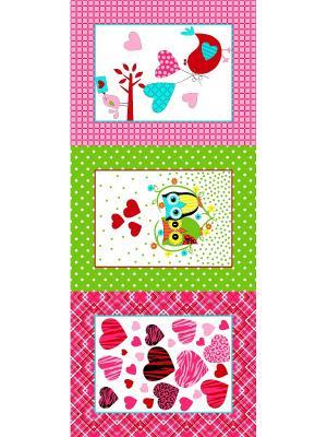 Набор полотенец Letto KVN3-02, хлопок, 3 шт. 47*62см. Цвет: розовый, зеленый