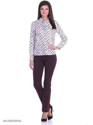Блузка Falinda. Цвет: бежевый, бордовый, черный