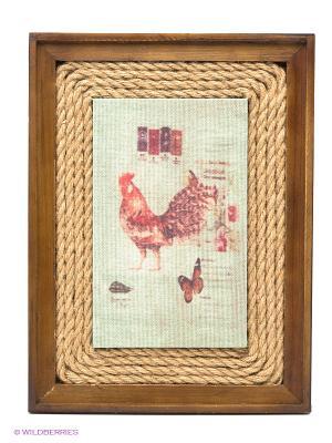 Картина ДСЛ 572 цвет коричневый Da Sent Lin ARTS. Цвет: коричневый