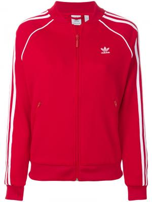 Спортивная куртка  Originals Superstar Adidas. Цвет: красный