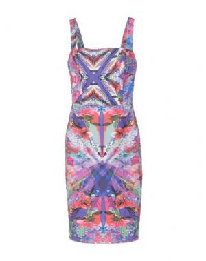 Платье до колена CAILAN'D. Цвет: фуксия