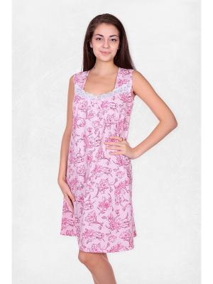 Сорочка El Fa Mei. Цвет: сиреневый, бледно-розовый