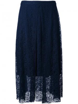 Многослойная кружевная юбка Essentiel Antwerp. Цвет: синий
