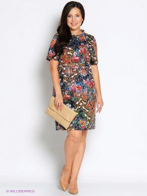 Платье Битис. Цвет: серо-коричневый