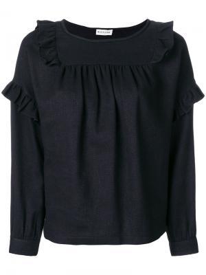 Блузка с оборками Masscob. Цвет: чёрный