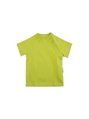 Футболка Bambinizon. Цвет: зеленый