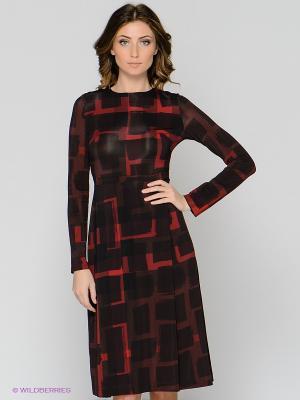 Платье ЭНСО. Цвет: бордовый