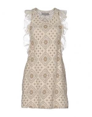 Короткое платье HEIMSTONE. Цвет: слоновая кость