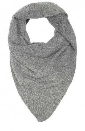 Вязаный шарф из кашемира Johnstons Of Elgin. Цвет: темно-серый