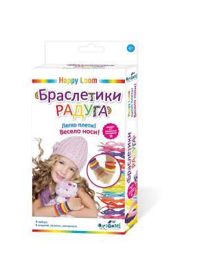 Happy Loom. Набор для создания браслетов Браслетики радуга. Loom. Цвет: розовый, желтый, зеленый