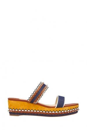 Комбинированные сандалии Montezuplage 60 Christian Louboutin. Цвет: синий, оранжевый