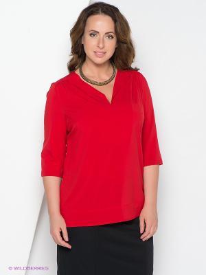 Блузка Forus. Цвет: красный