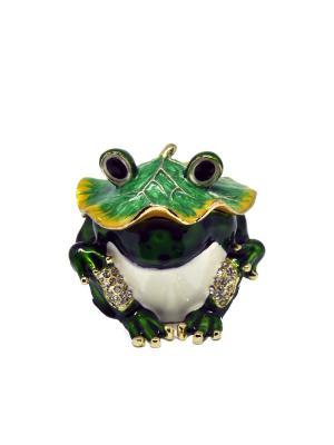 Шкатулка Лягушка Yen Ten. Цвет: зеленый, белый