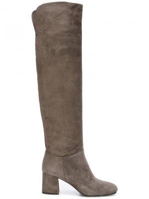 Сапоги по колено Le Silla. Цвет: серый