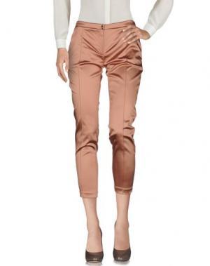 Повседневные брюки ELISABETTA FRANCHI. Цвет: светло-коричневый
