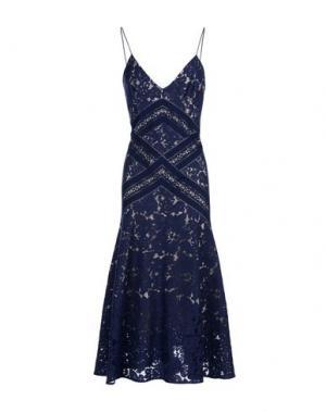 Платье длиной 3/4 LOVER. Цвет: темно-синий
