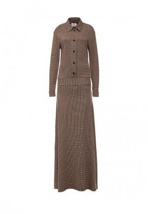 Платье Sahera Rahmani. Цвет: коричневый