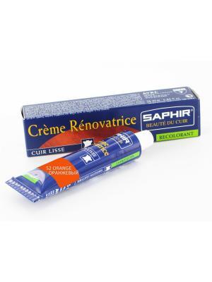 Восстановитель кожи Creme RENOVATRICE, 25 мл. (жидкая кожа)(52 оранжевый ) Saphir. Цвет: оранжевый