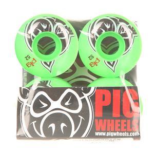 Колеса для скейтборда  Head Green 100A 52 mm Pig. Цвет: зеленый