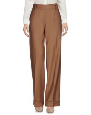 Повседневные брюки LAVINIATURRA. Цвет: верблюжий