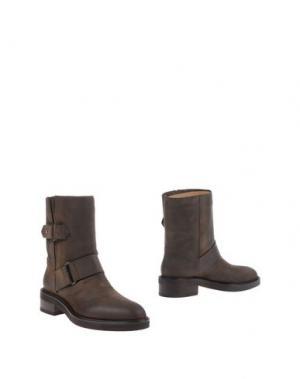 Полусапоги и высокие ботинки SARTORE. Цвет: темно-коричневый